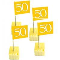 Folat 50 stuks cocktailprikkers 50 jaar