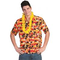 Hawaii shirt rood/oranje Multi