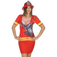 Bellatio Brandweer verkleed shirt voor dames