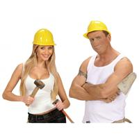 Bellatio PVC bouwhelm geel