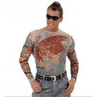 Bellatio Tattoo shirt tijger en draak Multi