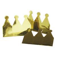 Bellatio Gouden kroontjes van karton 6 stuks