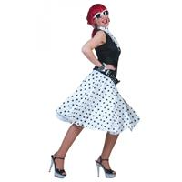 Bellatio Witte Rock n Roll rok met shawl