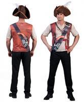 Bellatio Piraat shirt met 3D opdruk voor heren