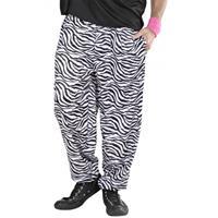 Bellatio Witte baggy broek zebraprint Multi