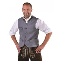 Bellatio Oktoberfest - Duitse klederdracht vest grijs 48 (XS) Grijs