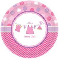 Bellatio Geboorte meisje bordjes baby girl
