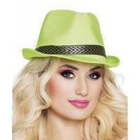 Bellatio Groene trilby hoed voor volwassenen