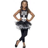 Smiffys Skelet kostuum voor meiden Zwart
