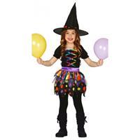 Bellatio Gekleurd heksen kostuum voor meisjes