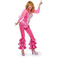 Bellatio Roze disco kostuum voor dames