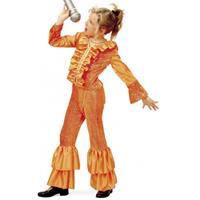 Bellatio Oranje disco kostuum meisjes (8 jaar) Oranje
