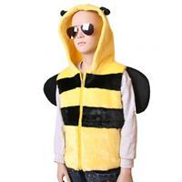 Bellatio Bijen bodywarmer voor kids