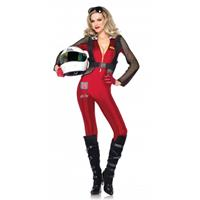 Leg Avenue Formule 1 pitstop poes dames kostuum Rood