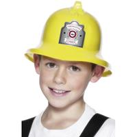 Gele brandweerhelm voor kinderen