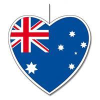 Bellatio Decoratie hart Australie 14 cm