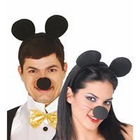 Zwarte muizenoren op diadeem