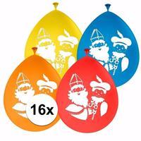 Folat Sinterklaas - 16x Sinterklaas en Piet ballonnen