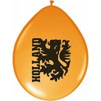 Oranje ballonnen met leeuw
