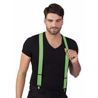 Bellatio Neon groene bretels voor volwassenen