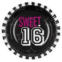 Bellatio Sweet 16 borden 6 stuks