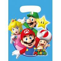 Disney Super Mario thema feestzakjes 6 stuks