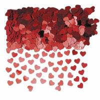 Haza Rode hartjes confetti 10 zakjes