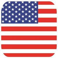 Shoppartners Bierviltjes Verenigde Staten vlag vierkant 15 st