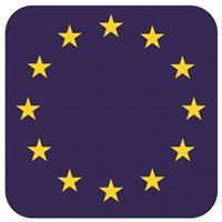 Shoppartners Bierviltjes Europese vlag vierkant 15 st