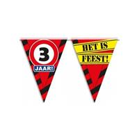 Bellatio 3 jaar vlaggenlijn waarschuwingsbord 10mtr
