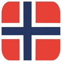 Shoppartners Bierviltjes Noorse vlag vierkant 15 st