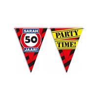 Bellatio Sarah 50 jaar vlaggenlijn waarschuwingsbord 10mtr