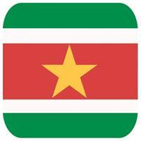 Shoppartners Bierviltjes Surinaamse vlag vierkant 15 st