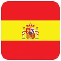 Shoppartners Bierviltjes Spaanse vlag vierkant 15 st