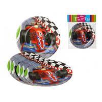 Bellatio Formule 1 kinderfeest bordjes 6 stuks