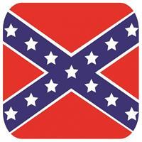 Shoppartners Bierviltjes Zuidelijke Staten vlag vierkant 15 st