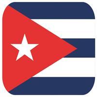 Bierviltjes Cubaanse vlag vierkant 15 st