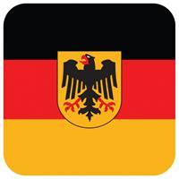 Shoppartners Bierviltjes Duitse vlag vierkant 15 st