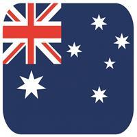 Shoppartners Bierviltjes Australische vlag vierkant 15 st