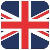Shoppartners Bierviltjes Groot Brittannie vlag vierkant 15 st