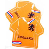 Bellatio Oranje Holland servetten in shirt vorm