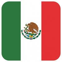 Shoppartners Bierviltjes Mexicaanse vlag vierkant 15 st