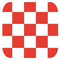 Shoppartners Bierviltjes Brabantse vlag vierkant 15 st