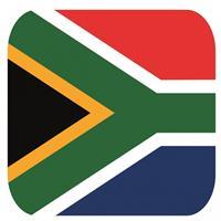 Shoppartners Bierviltjes Zuid Afrikaanse vlag vierkant 15 st