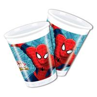 Marvel Spiderman Warriors bekers 8 stuks