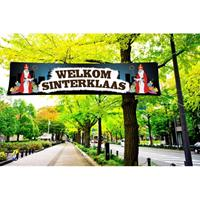 Shoppartners Sinterklaas PVC spandoek 200 x 50 cm