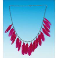 Bellatio Ketting met roze veren