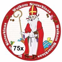 Shoppartners Onderzetters Sinterklaas 75 stuks