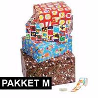 Shoppartners Sinterklaas - Sint cadeaupapier pakket met etiketten