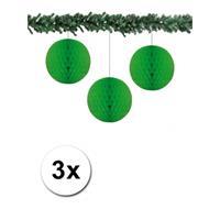Bellatio 3x decoratie bal groen 10 cm